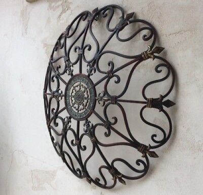 Large Iron Wall - Vintage Style Iron Wall Art Garden French Country Large Fleur De Lis Sculpture