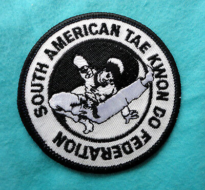 South American Tae Kwon Do Federation NEW EMBRODIERED Iron On Cloth Patch