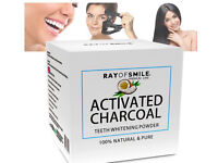 Activated Charcoal 100% Natural Teeth Whitening Powder by RAY OF SMILE®
