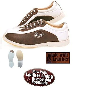 Linds Men's CPV MENS BROWN/WHITE LH ONLY  Bowling Shoes size  8    NEW IN BOX