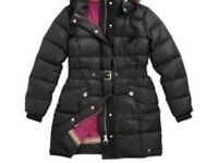 Joules women's black coat size xs 8