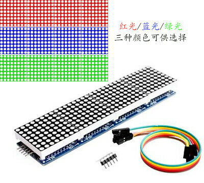 Max7219 4 In 1 Led Display Microcontroller5p Line Dot Matrix Module For Arduino