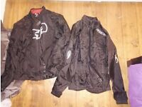Oxford motorbike jacket (M) and richa waterproof (S)