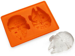 Star Wars Ice Cube Trays Millennium Falcon + Death Star + Hans