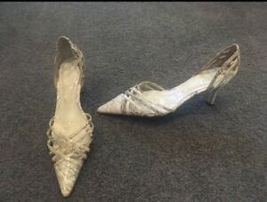Bonbons ladies size 8 heels, snake skin look, like new Kew Boroondara Area Preview