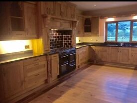 Traditional solid oak kitchen ready for refit