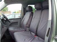 Vw Transporter T5 seat covers, genuine VW part, front seats plus bench seat, suit Kombi, headrests