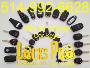 Car keys locksmith  5149926628          Serrurier Automobile