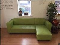 Green L Shaped Sofa
