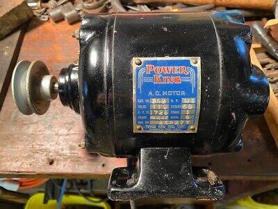 Nice Vintage 13 Hp Power King Electric Motor Atlas Craftsman Lathe Saw