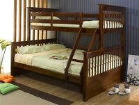 NEW SOLID WOOD BUNK BEDS