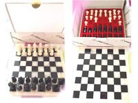 Genuine Chiellini of Italy Alabaster Black & White Chess Set = is a Complete Set – Good Condition