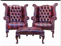 WANTED!!! Leather Chesterfields any condition, will collect, will pay £££