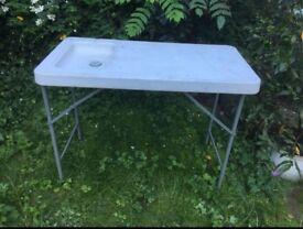 Used Foldable table with sink