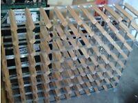 Wine rack holds 80 bottles