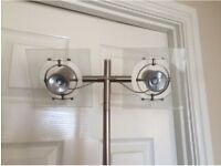 Adjustable double spotlight lamp with glass frames £30 ono
