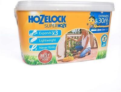 Hozelock Superhoze 30m Retractable Expanding Anti- Kink Hose Pipe