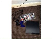PlayStation 3 320gb with two controllers and 6 games