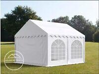 3X3m Marquee Party Tent Heavy Duty PVC 500 white PROFILINE Premium