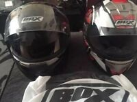 2 Motorbike Helmets (see description)