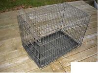 Cage pour petit chien en métal