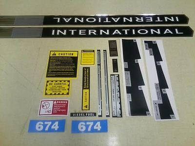 International 674 Decals