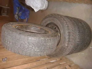 195/60 R15 General Altimax Artic Winter Tires on Rims