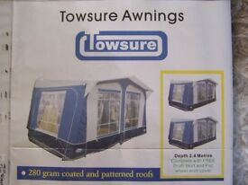 Caravan Awning- Towsure- as new