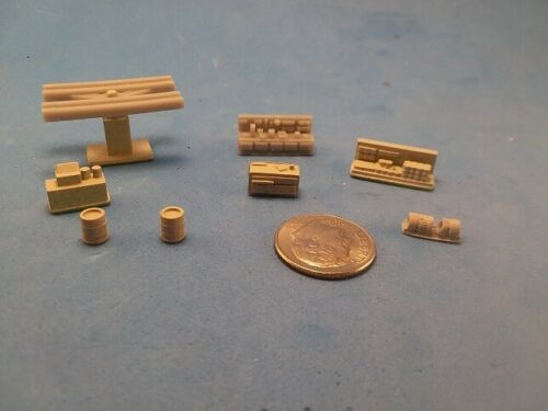 N Scale 8 Piece Gas Station Details, 3D Printed