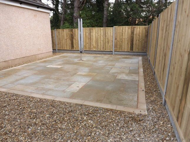 Landscape gardeners patio and decking Groundworks concrete