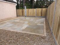Landscape gardeners patio and decking Groundworks concrete foundations drainage ground excavation