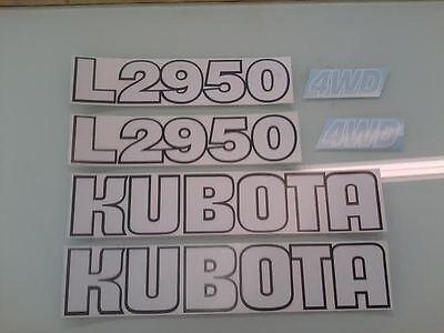 Kubota L2950 Hood Decals