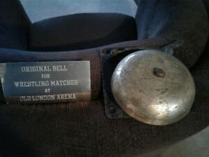 "Original Bell from ""London Arena"" Ontario Wrestling Matches"
