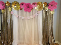Small event, bridal showers, baby showers, birthdays, decor