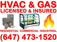 REFRIGERATION, A/C, FURNACE, GAS, LICENSED INSURED