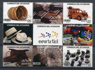 ECUADOR 2011 Export Schokolade Hüte Textilien Handwerk 3342-3349 ** MNH