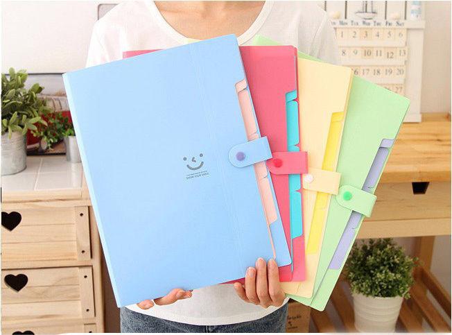A4 Plastic File Document Bag