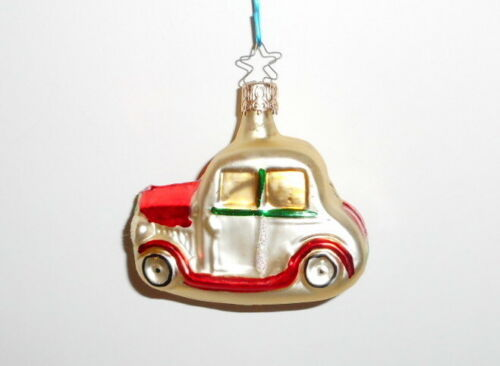Vintage Christmas Ornament Inge Glas CAR AUTOMOBILE Blown Glass West Germany