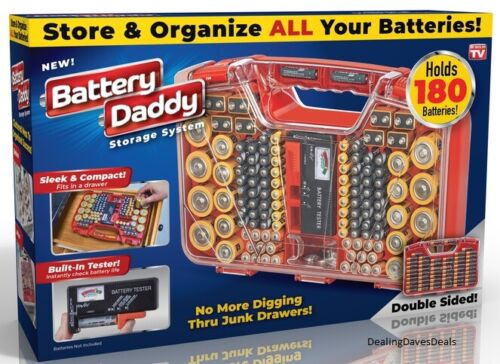 New Battery Daddy Battery Organizer & Battery Storage System Case with Tester