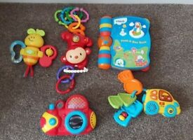 Vtech Electronic Baby Toys, Monkey, Story Book, Car & Keys Bundle