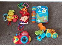 Vtech Electronic Baby Toys, Monkey, Story Book, Car & Keys Bundle