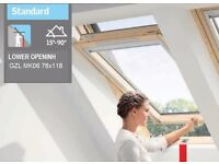 Velux Roof Window GZL MK06 78x118 with Flashing