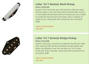 Lollar '52 T Series® Neck Pickup
