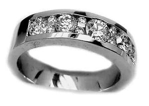 STUNNING-MENS-RING-VS2-F-COLOR-1-25CT-DIAMOND-ROUND-CUT-WEDDING-18K-WHITE-GOLD