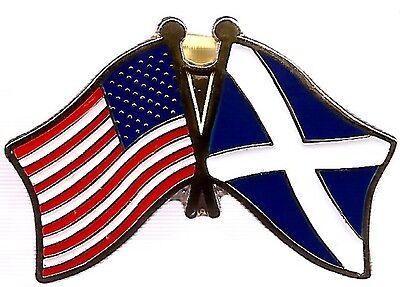 LOT OF 12 Scotland Cross Friendship Flag Lapel Pins - Scotland Crossed Flag Pin