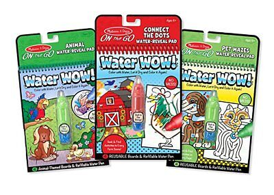 Melissa & Doug On the Go Water Wow! Water-Reveal Activity Pad 3 - Melissa & Doug Water Wow