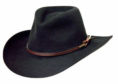 Stetson Bozeman Wool Crushable Cowboy Hat Black LARGE (7 3 8 -7 1 2) MADE  IN USA d7a367aefe0