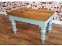 Rustic Chunky European Oak Coffee Table Danish Finish Full Stave Farmhouse Style - Free Delivery