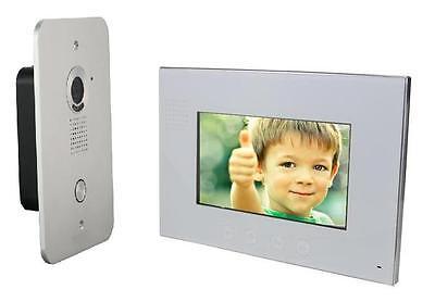 2 Draht Video Türsprechanlage Gegensprechanlage 7'' Monitor Klingel Farb Kamera