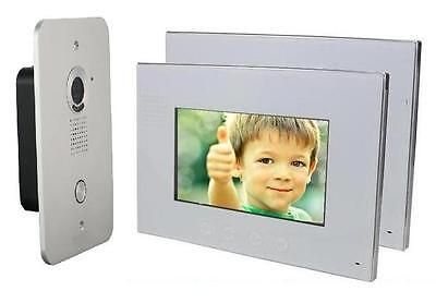 2 Draht Video Türsprechanlage Gegensprechanlage 2 X 7'' Monitor Klingel Farb